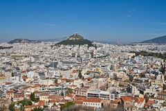 Athen-Stadtbild-Ansicht, Griechenland lizenzfreie stockfotos
