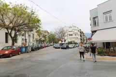 Athen-Straße, Griechenland Stockbild