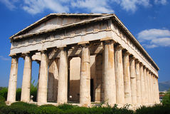 athen tempelet för greece hephaestushephaistos Royaltyfri Bild