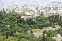 Athen von der Spitze Stockfotografie