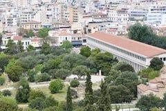 Athen von der Spitze Lizenzfreie Stockfotos