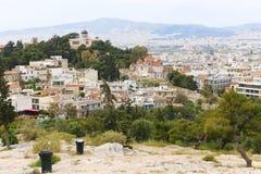Athen von der Spitze Stockfotos