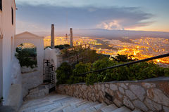 Athen von Lycabettus-Hügel Stockfoto