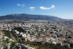 Athen von oben stockfotos