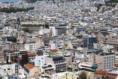 Athen, wie von der Akropolise, Griechenland gesehen Stockbild