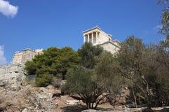Athena świątynia w Ateny akropolu, Grecja Zdjęcia Royalty Free