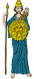 Athena. Vector illustration of Greek goddess Athena Royalty Free Stock Photography