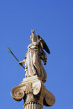 Athena. Tha marble statue of Athena in Athens, Greece royalty free stock photo