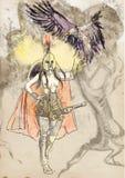 Athena ilustração royalty free