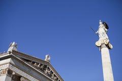Athena at Academy of Athens. Greece Stock Photo