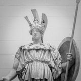 Athena the ancient Greek goddess statue. Athena the ancient Greek goddess of wisdom and science royalty free stock photography