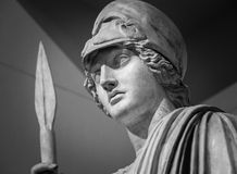 Athena the ancient Greek goddess. Of wisdom and science royalty free stock images
