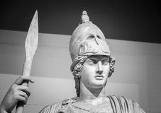 Athena the ancient Greek goddess. Of wisdom and science royalty free stock photos