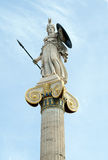 Athena, Ancient Greeks' goddess of heroic endeavor and wisdom. The statue is located by the main entrance of the Academy of Athens, Greece Royalty Free Stock Photos