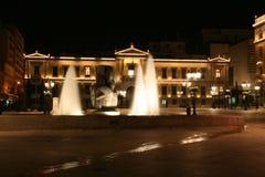 Athena bij nacht Royalty-vrije Stock Foto's