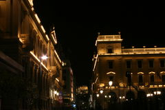Athena bij nacht Royalty-vrije Stock Fotografie