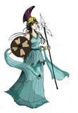 Athena Cartoon character Royalty Free Stock Image