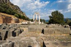 athena delphi tempel arkivbild