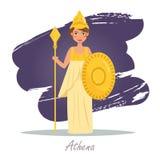 athena Deuses gregos Vetor ilustração royalty free