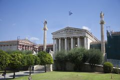 Athena en Apollo Museum stock foto