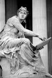 Athena fontanna, Austriacki parlament w Wiedeń, A Zdjęcia Royalty Free