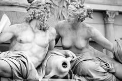 Athena fontanna, Austriacki parlament w Wiedeń, A Obraz Royalty Free