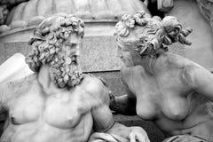 Athena fontanna, Austriacki parlament w Wiedeń, A Fotografia Stock