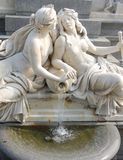 Athena fountain. In front of parliament Vienna royalty free stock photo
