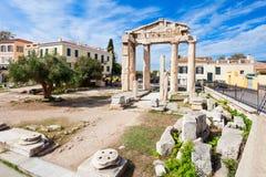 Athena Gate, Roman Agora Photo stock