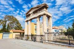Athena Gate, Roman Agora Photos stock
