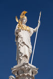 Athena, goddess of greek mythology. Symbol for law and justice stock photos
