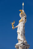 Athena, goddess of greek mythology. Symbol for law and justice royalty free stock photography