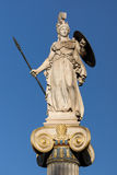 Athena goddess statue in front of Academy of Athens, Greece. Athena goddess statue in front of Academy of Athens, Attica, Greece stock image