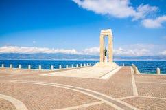 Athena goddess Statue, Reggio di Calabria, Southern Italy stock images
