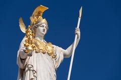 Athena, godin van Griekse mythologie Royalty-vrije Stock Afbeelding