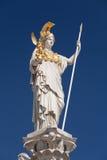 Athena, godin van Griekse mythologie stock foto's