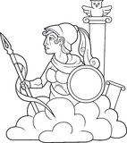 Athena holding a spear in his hand. Greek goddess Athena holding a spear in his hand Stock Photography