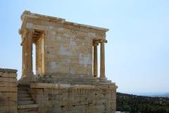 Athena Nika świątynia w Ateny akropolu Zdjęcia Royalty Free