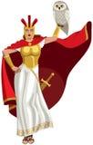 Athena op wit Stock Fotografie