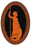 Athena Pallada com uma lança ilustração stock