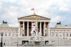Athena Pallas fountain near Austrian Parliament Royalty Free Stock Photo