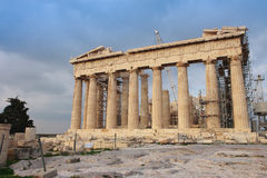 Athena Parthenon temple Royalty Free Stock Photo