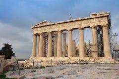 Athena Parthenon temple. Restoration of Athena Parthenon temple, Acropolis Royalty Free Stock Photo