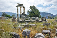Athena Pronaia Sanctuary at Delphi Stock Photos