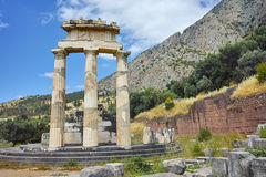 Athena Pronaia Sanctuary at Delphi Stock Images