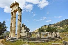 Athena Pronaia Sanctuary at Delphi Stock Image