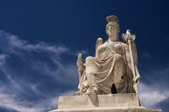 Athena rzeźba obraz stock