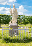 Athena sculpture in Lower Gardens of Peterhof Stock Image