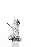 Athena Statue. At Academy of Athens, Black and white image Royalty Free Stock Photos