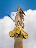 Athena statue from the Academy of Athens Stock Images